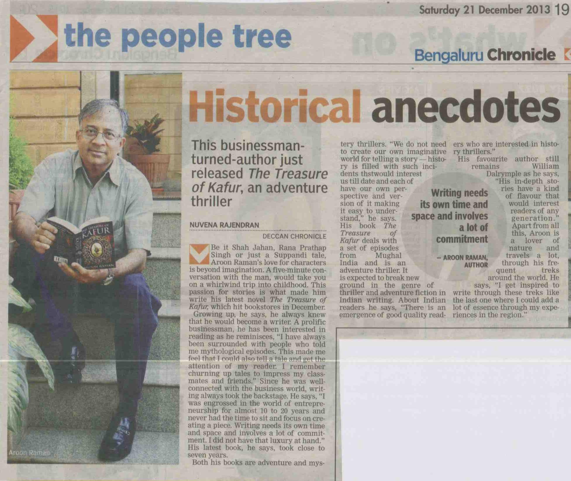 The Trasureof Kafur - TOK_Bengaluru-Chronicle-21-Dec-2013