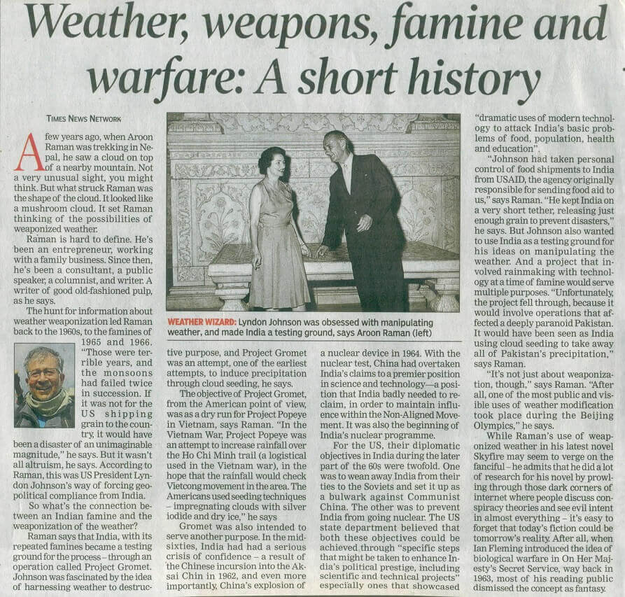 Weather weapons famine and warfare A short history TOI